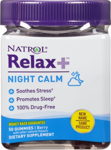Natrol Relaxia Night Calm Gummies Perspective: front
