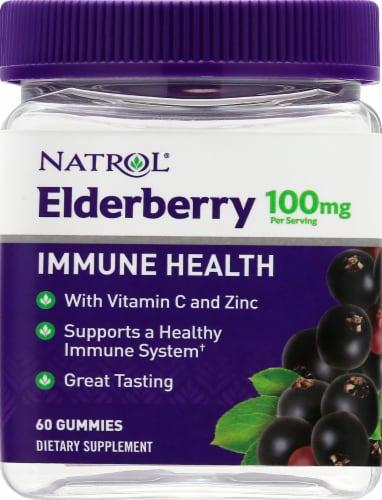 Natrol® Elderberry Immune Health Gummy Dietary Supplement Perspective: front