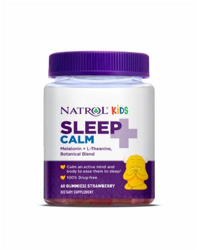 Natrol Kids Sleep + Calm Strawberry Gummies Perspective: front