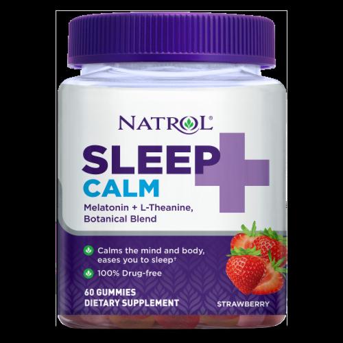 Natrol Sleep + Calm Strawberry Gummies Perspective: front