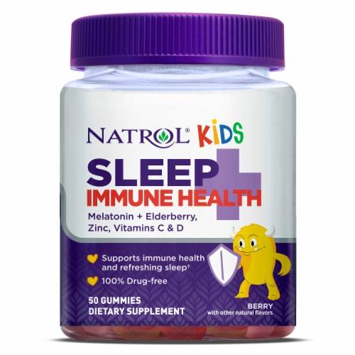 Natrol Kids Sleep + Immunity Berry Gummies Perspective: front
