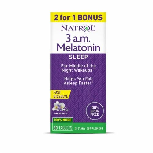 Natrol® 3 am Melatonin Sleep Tablets Perspective: front