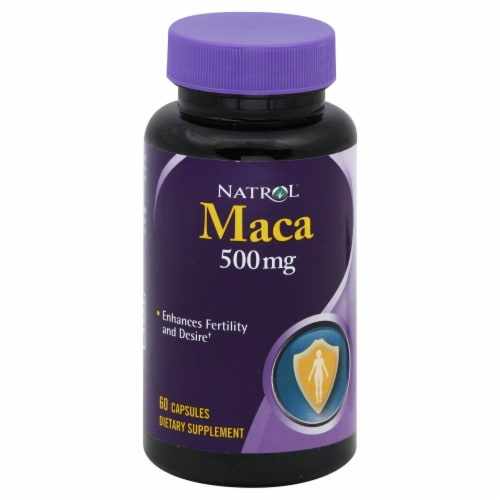 Natrol Maca Capsules 500mg Perspective: front