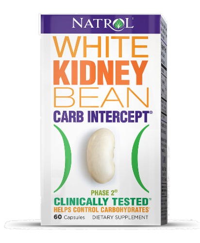 Natrol White Kidney Bean Carb Intercept Capsules Perspective: front