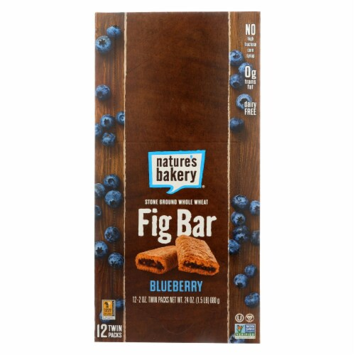 Natures Bakery Whole Wheat Blueberry Fig Bar, 2 Ounce -- 84 per case. Perspective: front