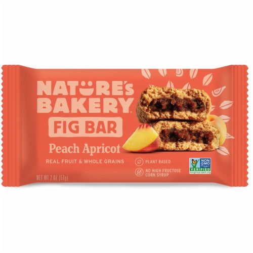 Natures Bakery Whole Wheat Peach Apricot Fig Bar, 2 Ounce -- 84 per case. Perspective: front