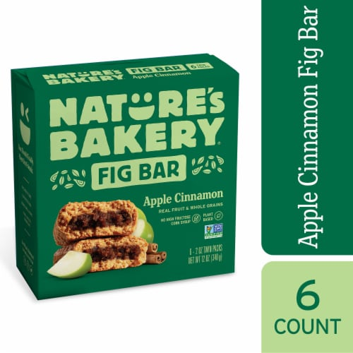 Nature's Bakery Apple Cinnamon Fig Bars Perspective: front