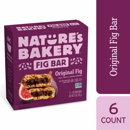 Nature's Bakery Whole Wheat Original Fig Bars 6 Count Perspective: front