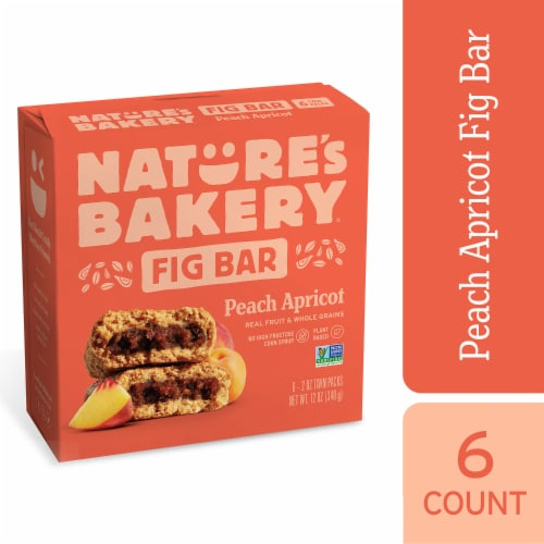 Natures Bakery Whole Wheat Peach Apricot Fig Bars Perspective: front