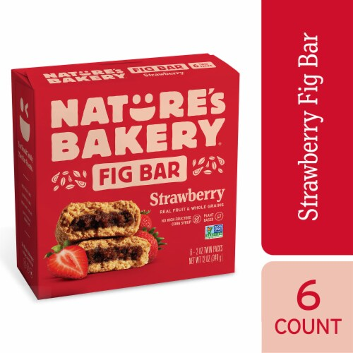 Nature's Bakery Whole Wheat Strawberry Fig Bars Perspective: front