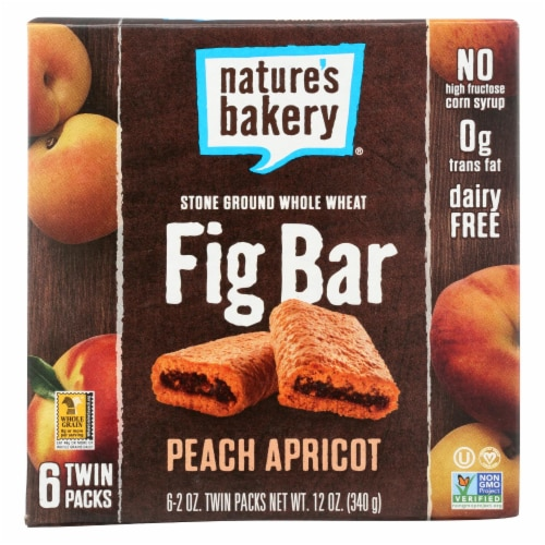 Nature's Bakery Stone Ground Whole Wheat Fig Bar - Peach Apricot Perspective: front