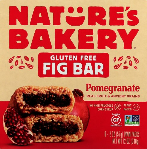 Nature's Bakery Gluten Free Pomegranate Fig Bars 6 Count Perspective: front