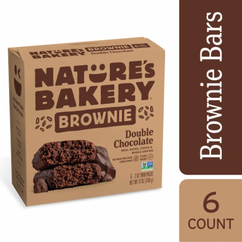 Nature's Bakery Double Chocolate Brownie Perspective: front