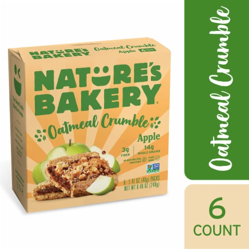 Nature's Bakery Oatmeal Apple Crumble Bars Perspective: front