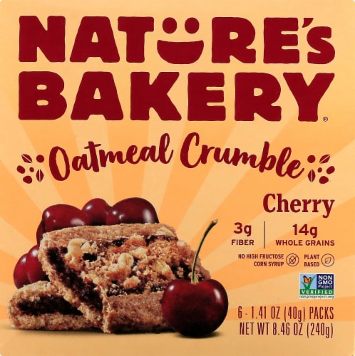 Nature's Bakery Oatmeal Crumble Cherry Bars Perspective: front