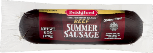 Bridgford Beef Summer Sausage Perspective: front