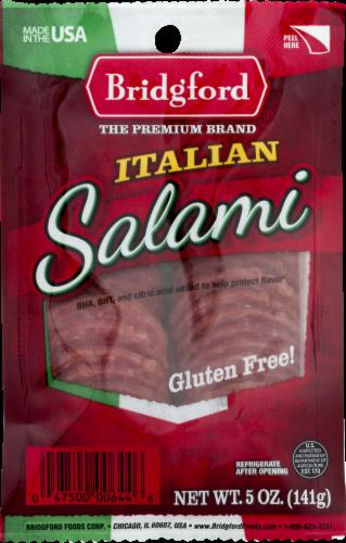 Bridgford Italian Sliced Salami Perspective: front