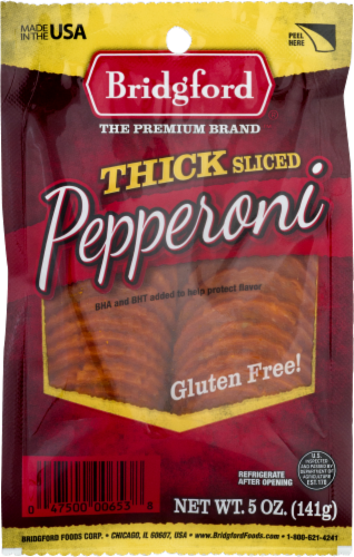 Bridgford Thick Sliced Pepperoni Perspective: front