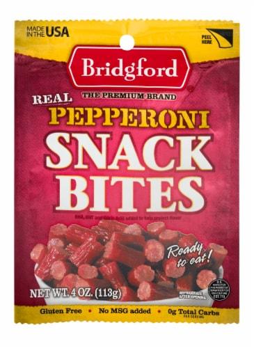 Bridgford Pepperoni Snack Bites Perspective: front