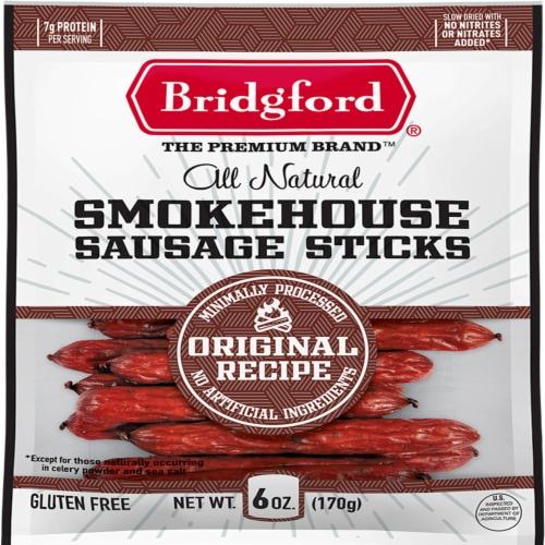 Bridgford Original Recipe Smokehouse Sausage Sticks Perspective: front