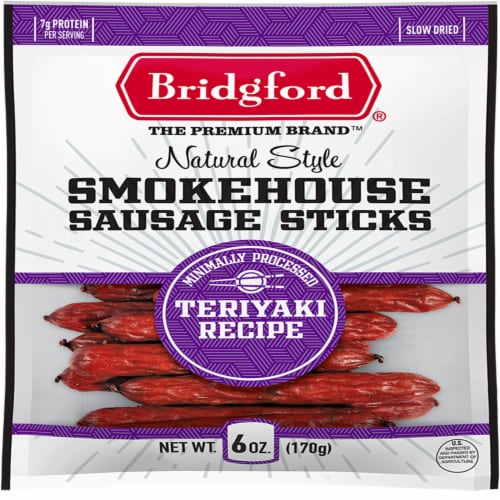 Bridgford Teriyaki Smokehouse Sausage Sticks Perspective: front