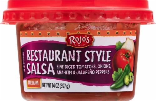Rojo's Restaurant Style Medium Salsa Perspective: front