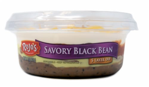 Rojo's Savory Black Bean 5 Layer Dip Perspective: front
