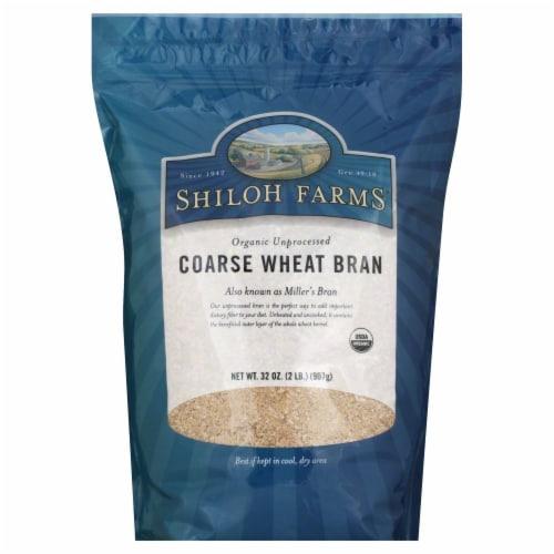 Shiloh Farms Organic Unprocessed Coarse Wheat Bran Perspective: front