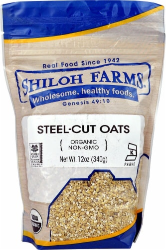 Shiloh Farms  Organic Steel-Cut Oats Perspective: front