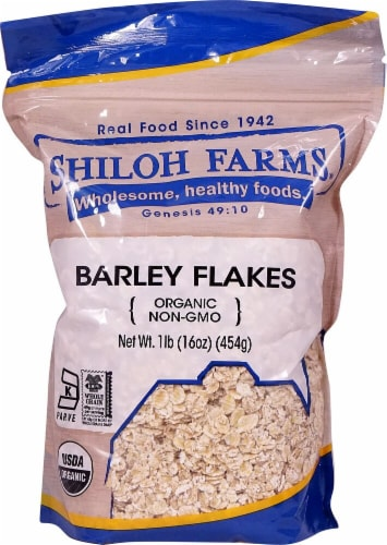 Shiloh Farms  Organic Barley Flakes Perspective: front