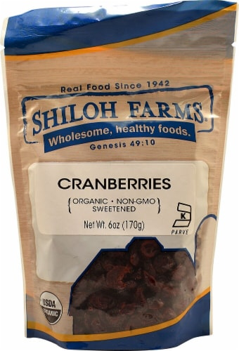 Shiloh Farms Organic Cranberries Perspective: front