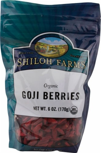 Shiloh Farms  Organic Goji Berries Perspective: front
