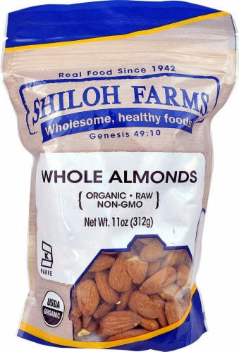 Shiloh Farms Organic Whole Almonds Perspective: front