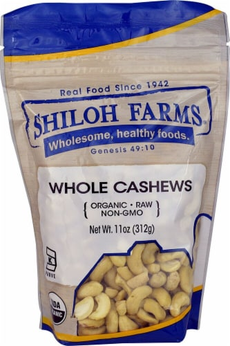 Shiloh Farms Organic Whole Cashews Perspective: front