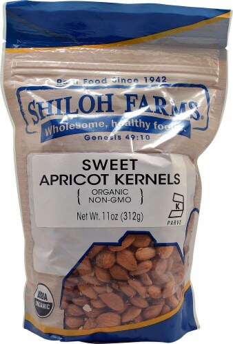 Shiloh Farms Organic Sweet Apricot Kernels Perspective: front