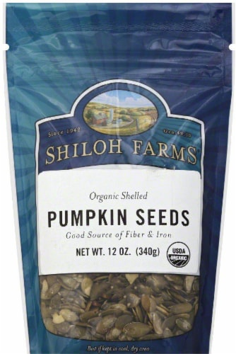 Shiloh Farms Organic Shelled Pumpkin Seeds Perspective: front