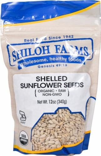 Shiloh Farms Organic Shelled Sunflower Seeds Perspective: front