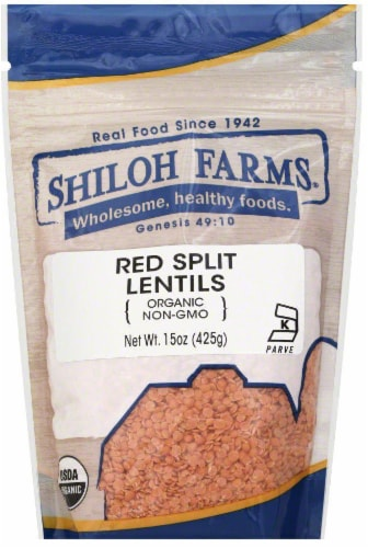 Shiloh Farms Organic Red Split Lentils Perspective: front
