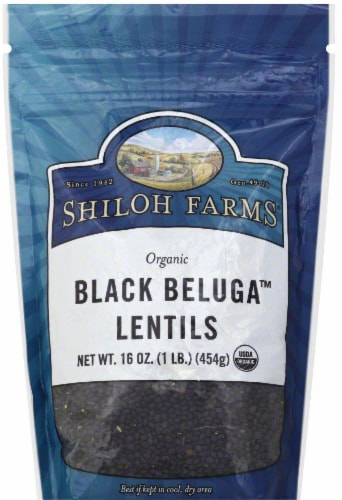 Shiloh Farms Organic Black Beluga Lentils Perspective: front