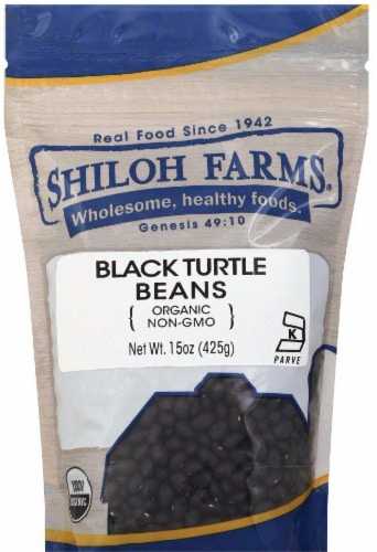 Shiloh Farms Organic Black Turtle Beans Perspective: front