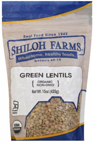 Shiloh Farms Organic Green Lentils Perspective: front