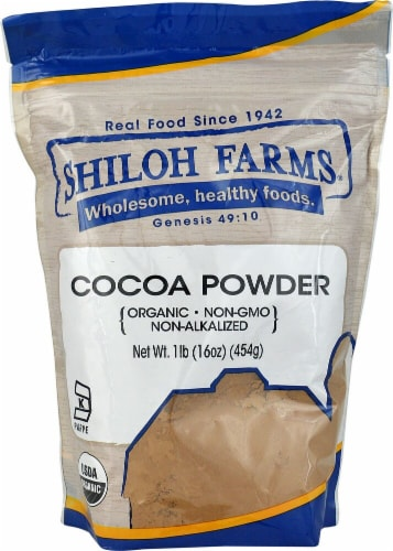 Shiloh Farms  Organic Cocoa Powder Perspective: front