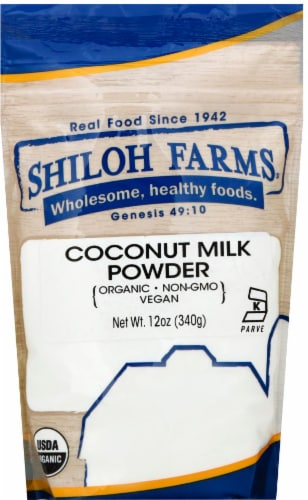 Shiloh Farms Organic Coconut Milk Powder Perspective: front