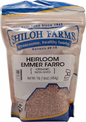 Shiloh Farms Heirloom Emmer Farro Perspective: front