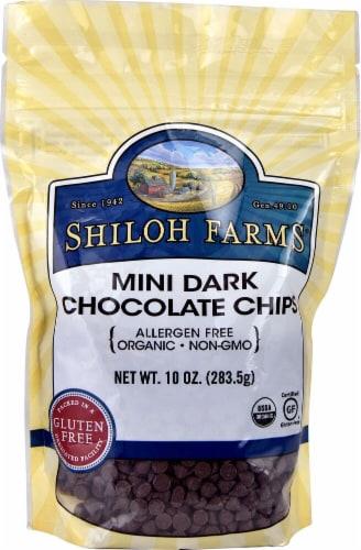 Shiloh Farms  Organic Mini Dark Chocolate Chips Gluten Free Perspective: front