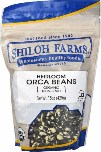 Shiloh Farms Organic Heirloom Orca Beans Perspective: front