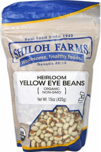 Shiloh Farms Organic Heirloom Yellow Eye Beans Perspective: front