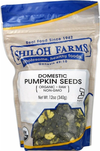Shiloh Farms Organic Pumpkin Seeds Perspective: front