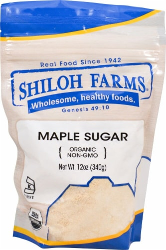 Shiloh Farms Organic Maple Sugar Perspective: front