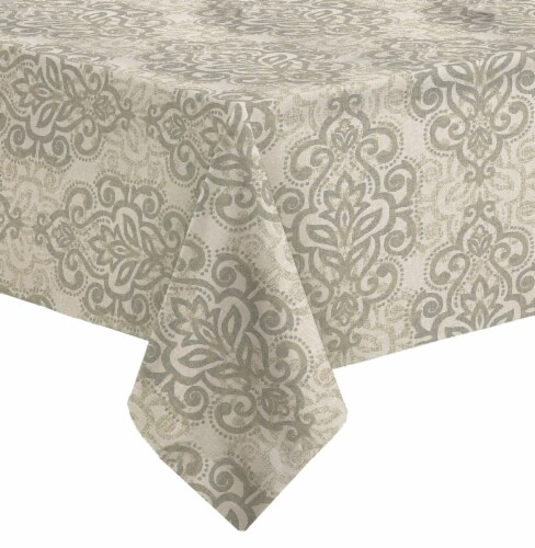 Bardwil Taylor Round Tablecloth - Black/White Pinstripe Perspective: front